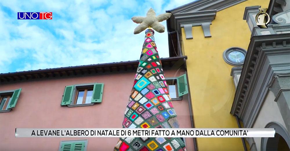 A Levane l'albero di Natale di 6 metri fatto a mano dalla comunità