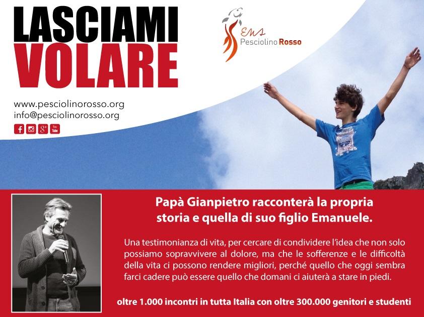 Lasciami volare: la testimonianza di papà Gianpietro, segno di speranza per tanti giovani