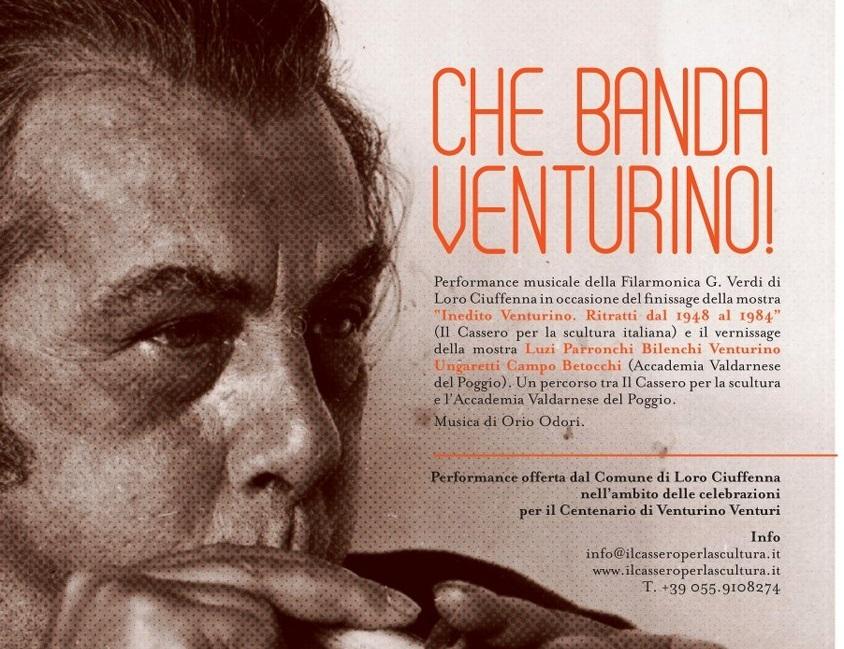 La Filarmonica di Loro Ciuffenna all'atto conclusivo della mostra dedicata a Venturino Venturi