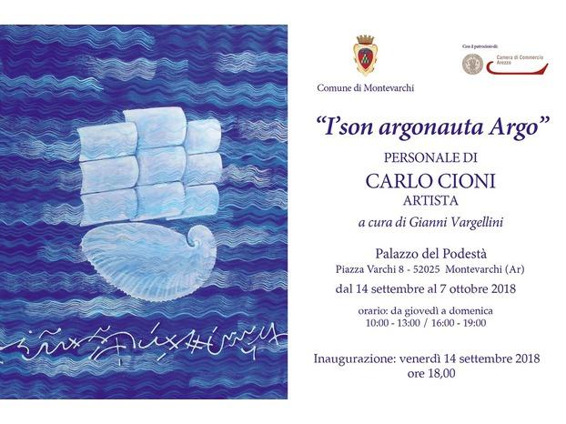 Mostra in Palazzo del Podestà dell'artista Carlo Cioni