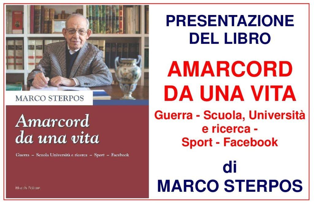 """""""Amarcod di una vita"""": l'ultimo libro del Prof. Marco Sterpos presentato alla Ginestra"""